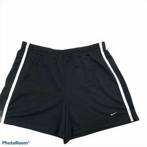 Ladies Nike Black and White Side Stripe Shorts L